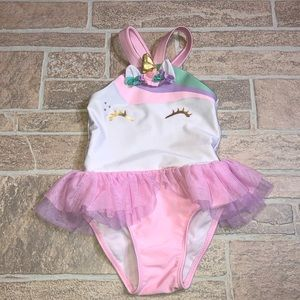 2T girls unicorn tutu swimsuit girls